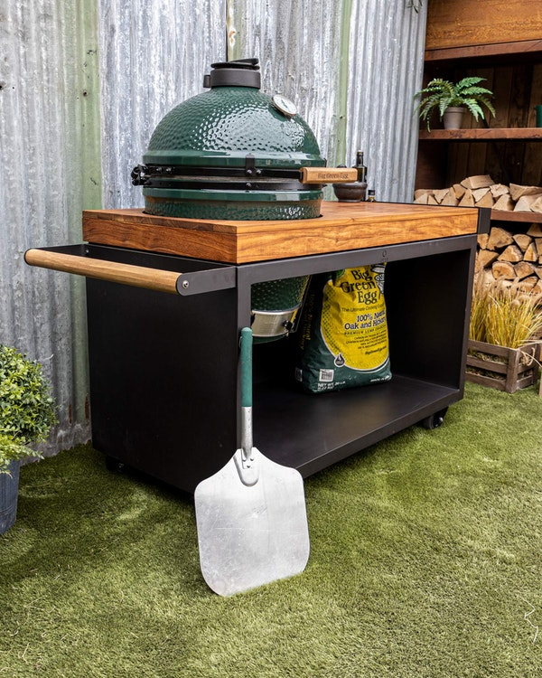 Black Table 135 Teak Wood | Tables | Bases | Large Big Green Egg