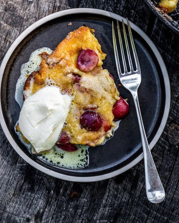 Clafoutis | Sweet Recipe | Pan Cooking | Big Green Egg