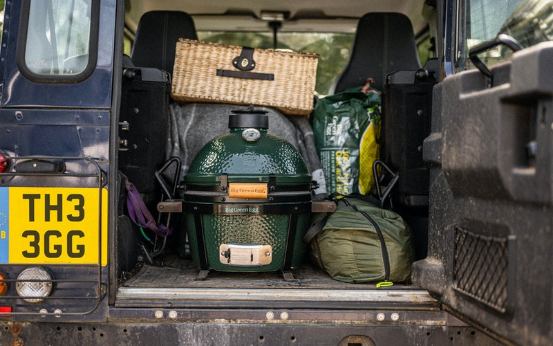 MiniMax in the back of a Land Rover Defender | Big Green Egg