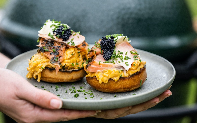 Smoked Salmon, Scrambled Egg & Caviar Crumpets | Recipes | Restaurant Quality Food at Home | Big Green Egg
