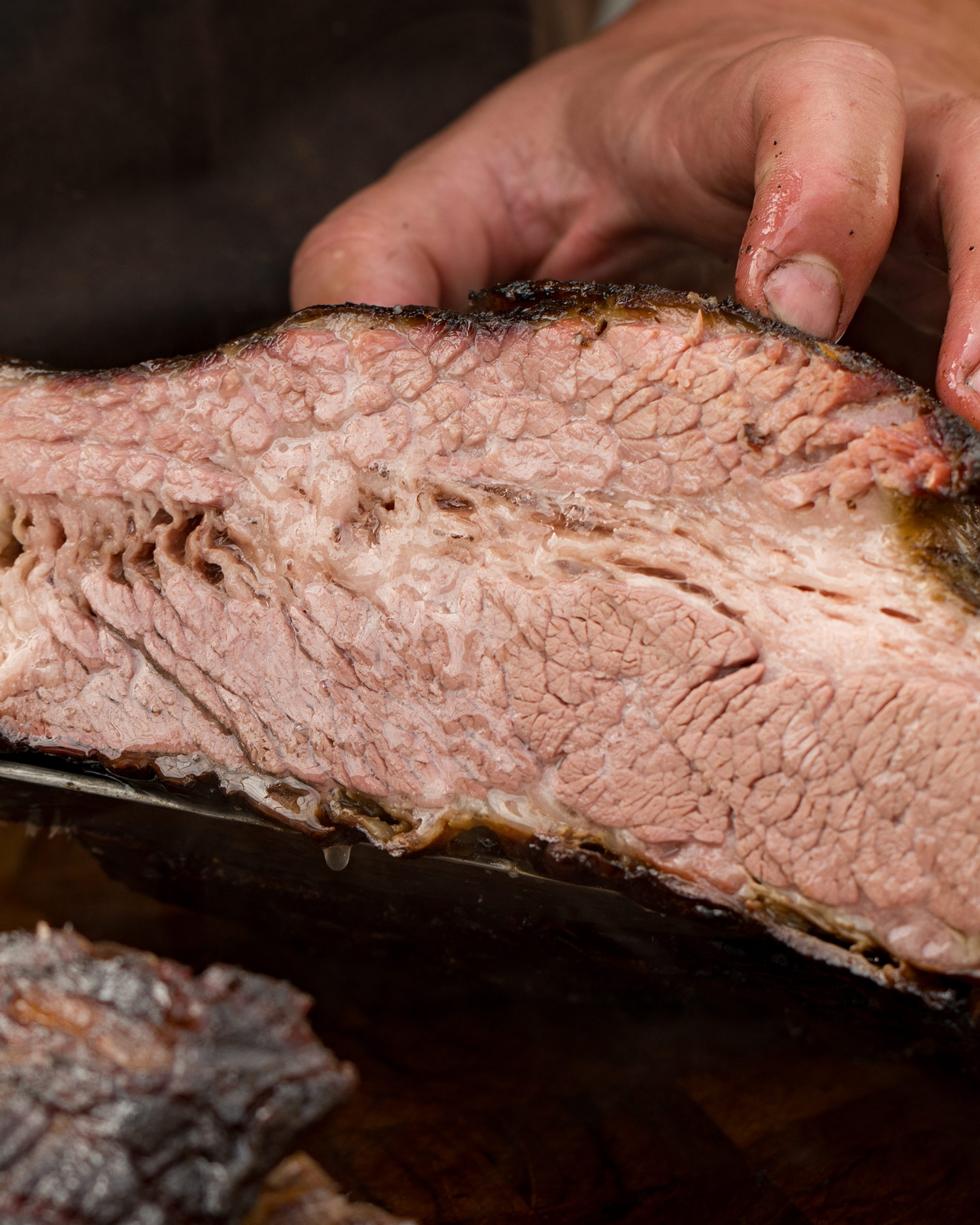 use a cooked brisket