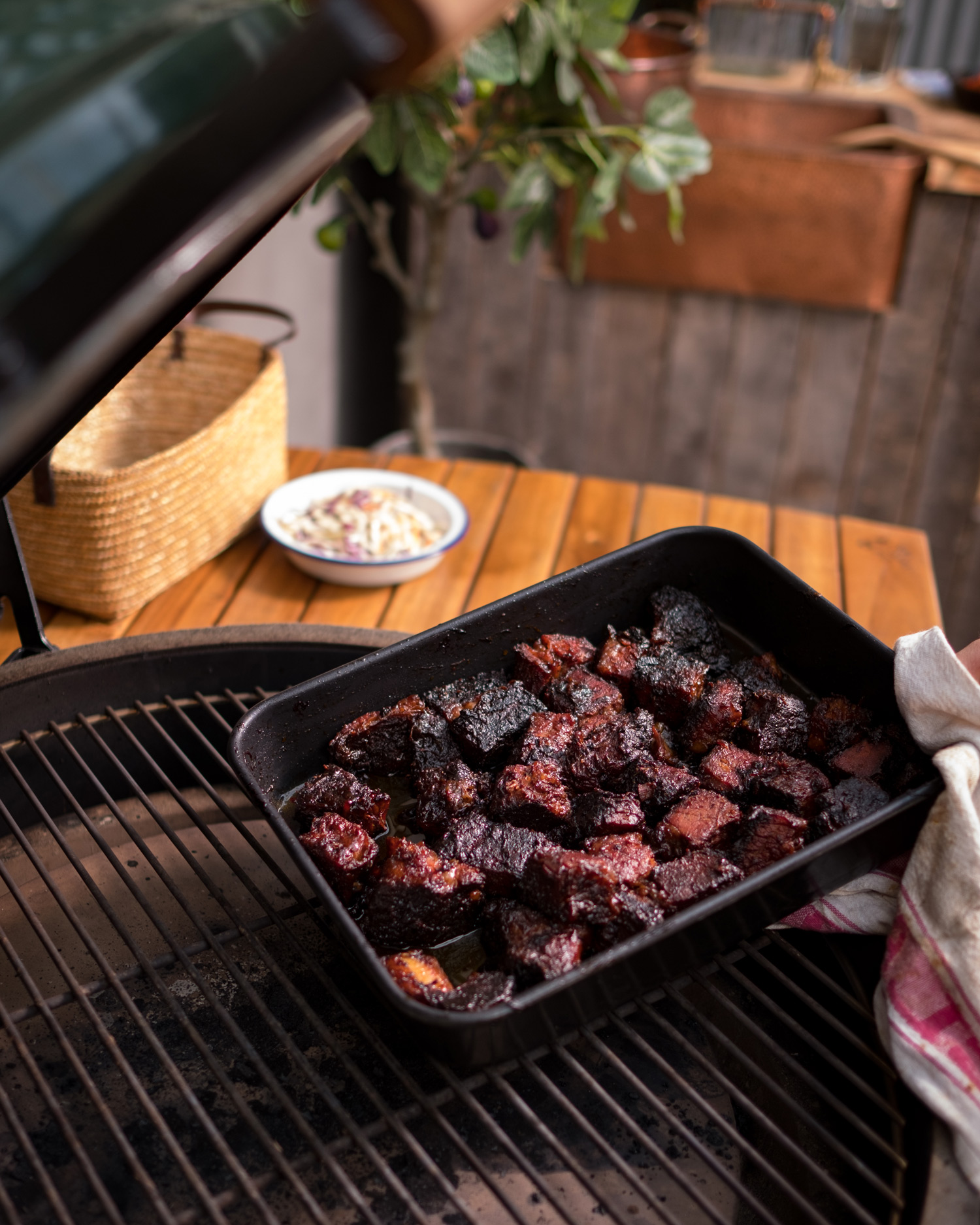 remove the burnt ends