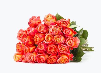 Pink & Orange Roses: Pink Garden Rose Bouquet-BloomsyBox - Image#2793732