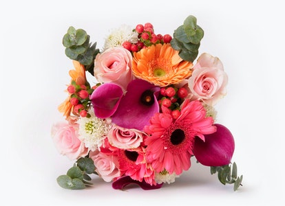 Pastel Bouquet - Peach and Pink Gerbera Bouquet - Image#2912550