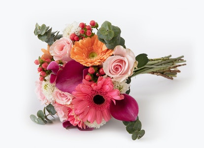 Pastel Bouquet - Peach and Pink Gerbera Bouquet - Image#2912551