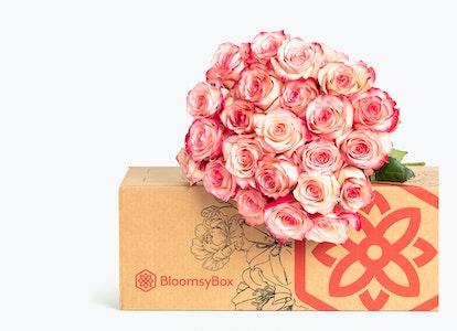 Pink Magenta & White Bi Color Rose Bouquet - Image#2983695