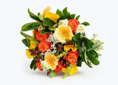 Honey Blush Premium Yellow and Orange Flowers | BloomsyBox - Image#4581765