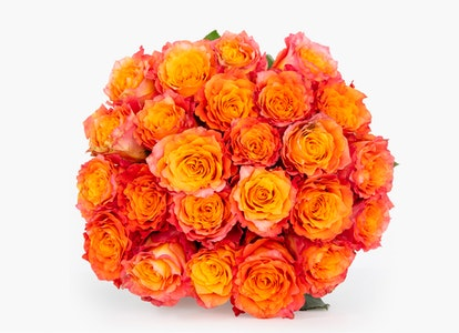 Pink & Orange Roses: Pink Garden Rose Bouquet-BloomsyBox - Image#12932198