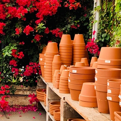 Stacks of pots