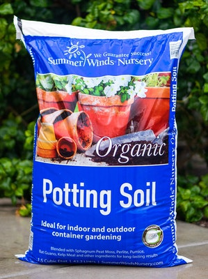 Bag of organic SummerWinds Potting Soil