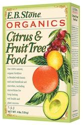 4 lb. box of e.b. stone organics citrus and fruit tree food or fertilizer