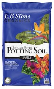 1.5 cuft bag of eb stone organics ultimate recipe potting soil