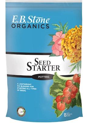 8 quart bag of eb stone organics seed starter potting soil