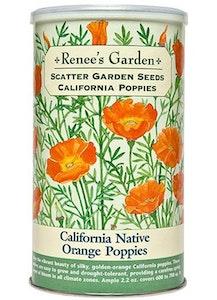 A package of Renee's Garden - Scatter Garden Seeds - California Poppies