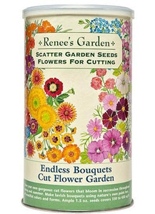 A package of Renee's Garden - Scatter Garden Seeds - Flowers for Cutting