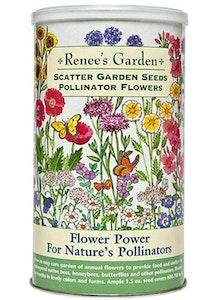 A package of Renee's Garden - Scatter Garden Seeds - Pollinator Flowers