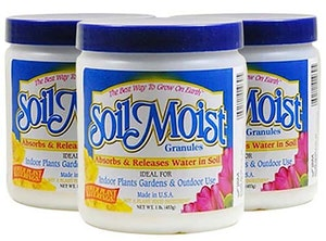 3 jars of soil moist granules