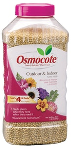 Plastic bottle of osmocot outdoor and indoor plant food
