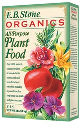 4 lb box of e.b. stone organics all purpose plant food or fertilizer