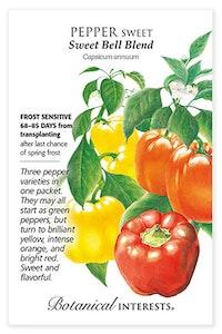 botanical interests pepper sweet sweet bell blend seed packet