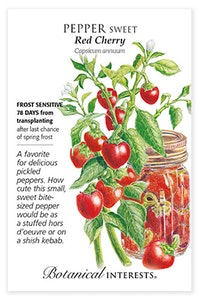 botanical interests pepper sweet red cherry seed packet