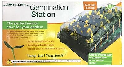 Jump start germination station with heat mat