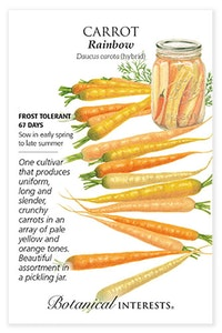 botanical interests carrot rainbow seed packet