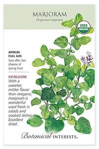 botanical interests marjoram heirloom seed packet