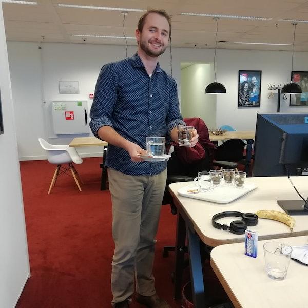 CAS Team ERP Mark de Boer met thee