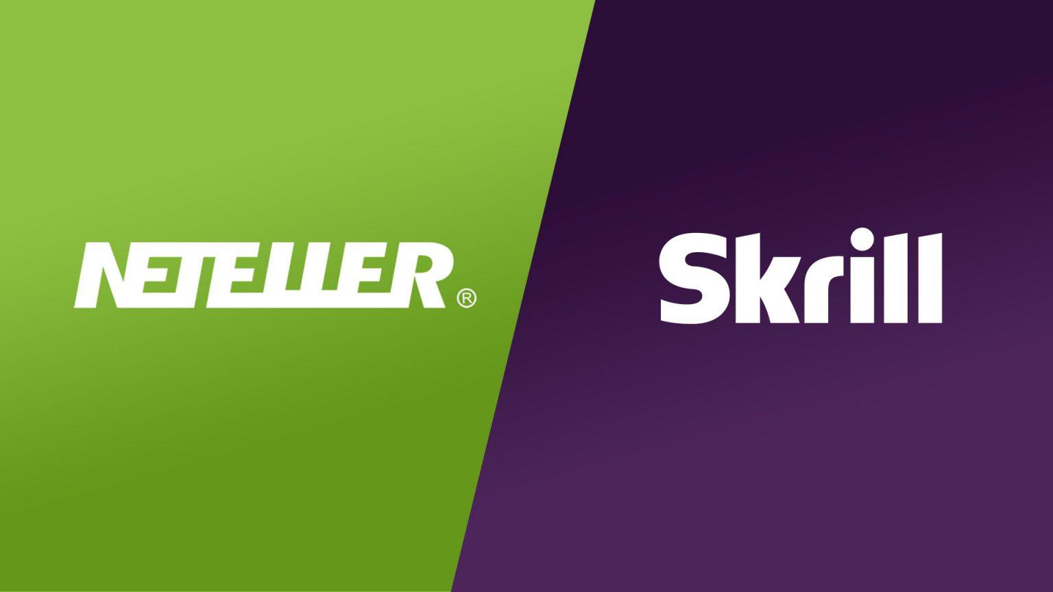 Neteller logo and Skrill logo