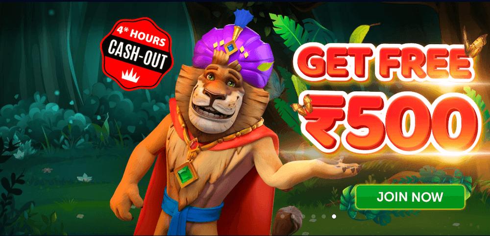 Jungle Raja Casino Bonus Rs 500 Free