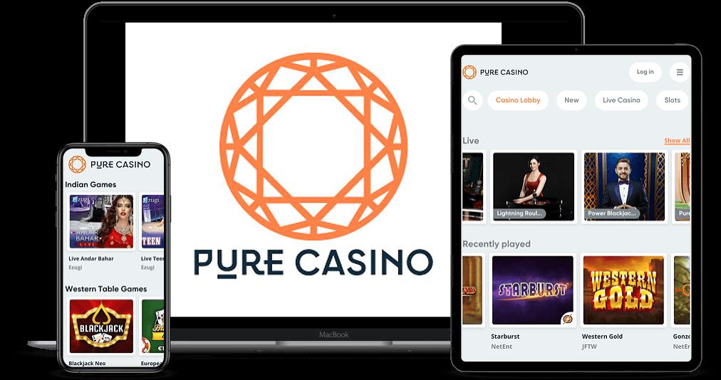 Pure Casino Mobile Desktop & Tablet