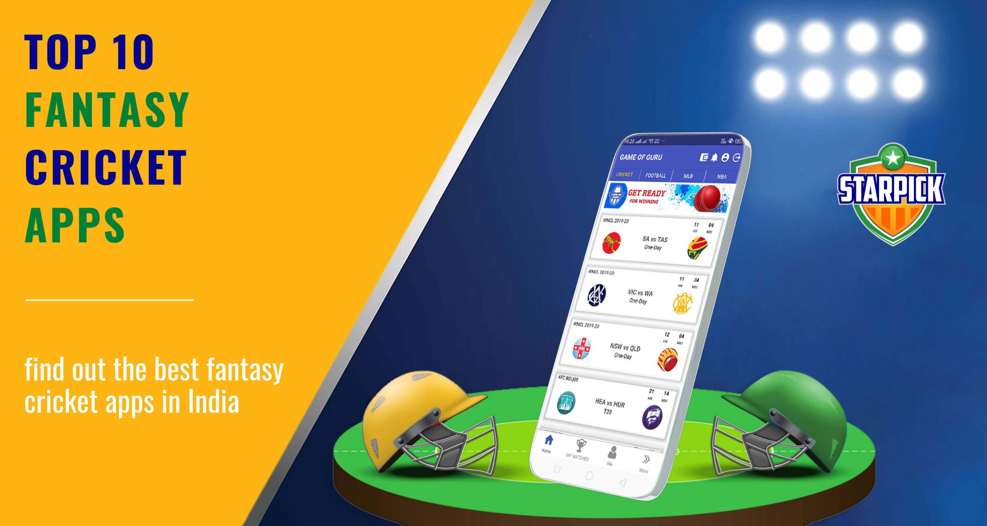 Top 10 Fantasy Cricket Apps