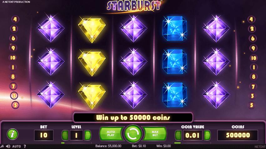 starburst online slot features