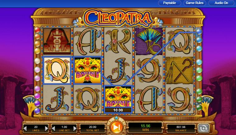 cleopatra slot features