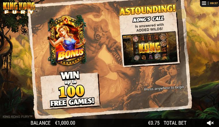 king kong fury slot free