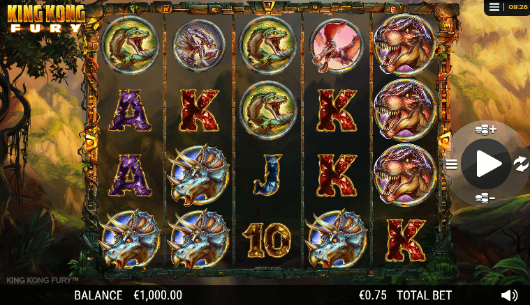 king kong fury slot machine