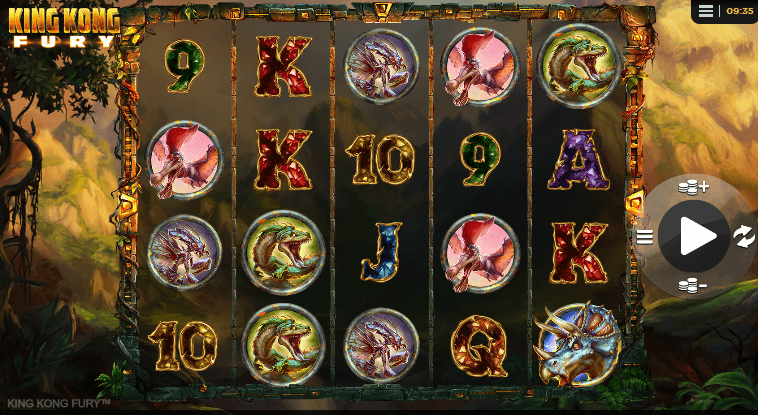 king kong fury slot features