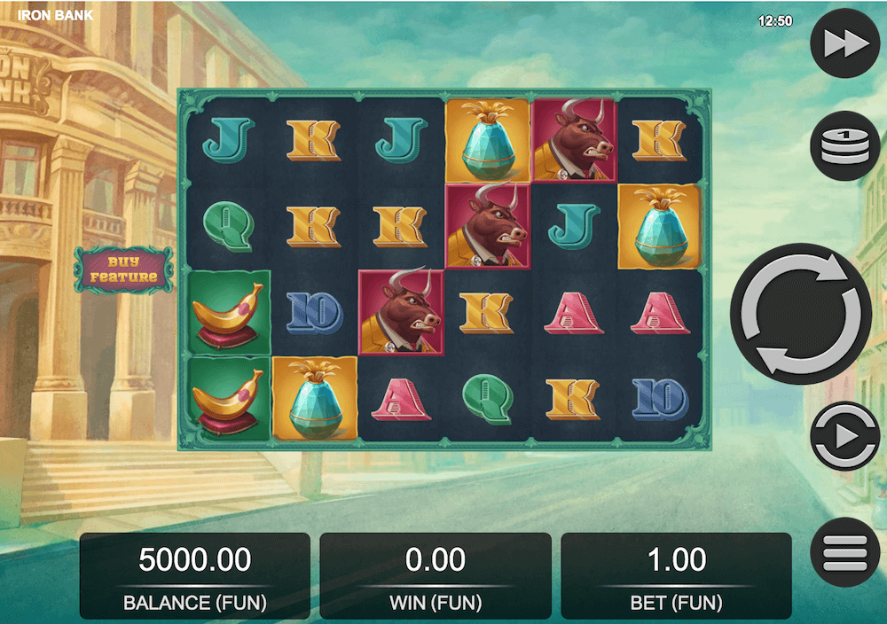 Iron Bank Slot Game View