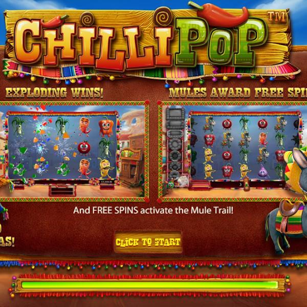 Chilli pop Slot Logo