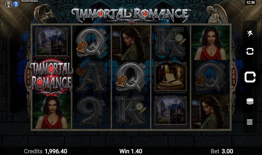 Immortal Romance Slot Win
