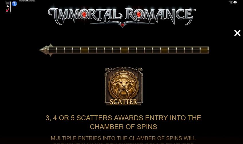 Immortal Romance Slot Scatter Symbol