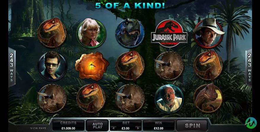 Jurassic Park Slot Gaming Grid