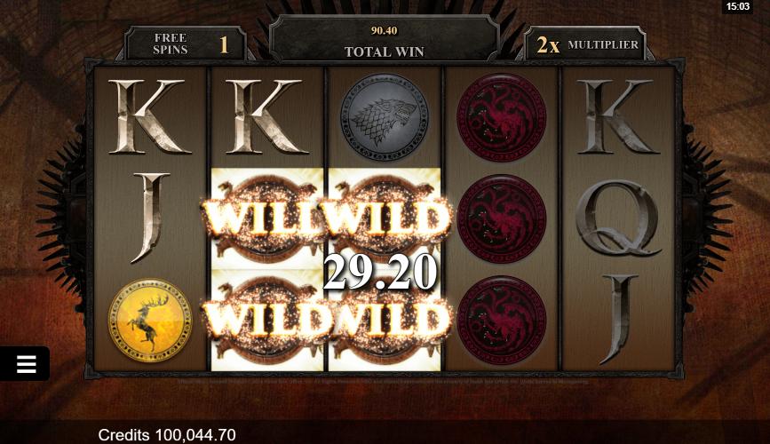 Game Of Thrones Slot Wild Symbols on Gaming Grid