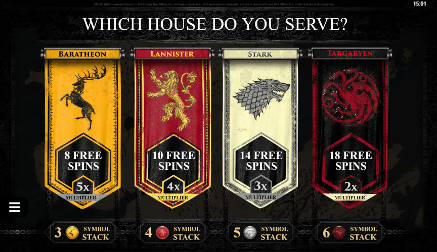 Game Of Thrones Slot Free Spins