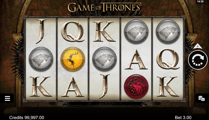 Game Of Thrones Slot Gaming Grid