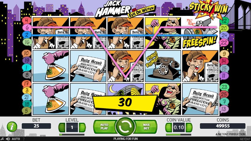 Jack Hammer Slot Win