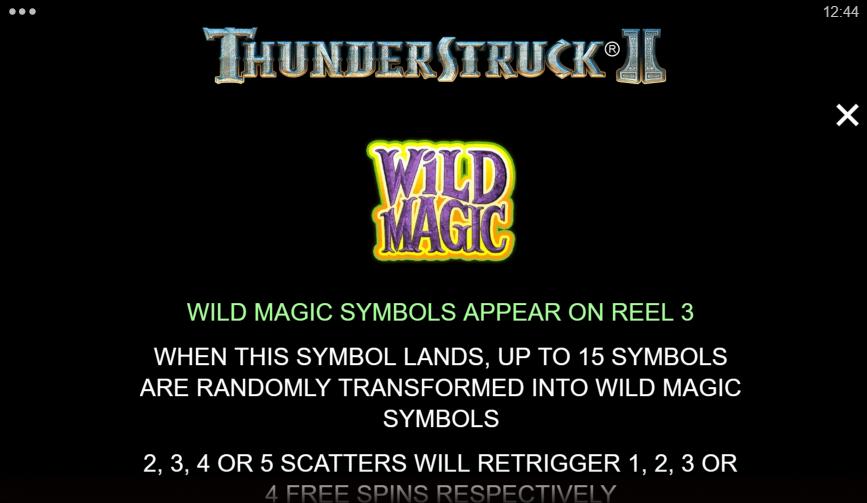 Thunderstruck 2 Slot Wild Magic Symbol