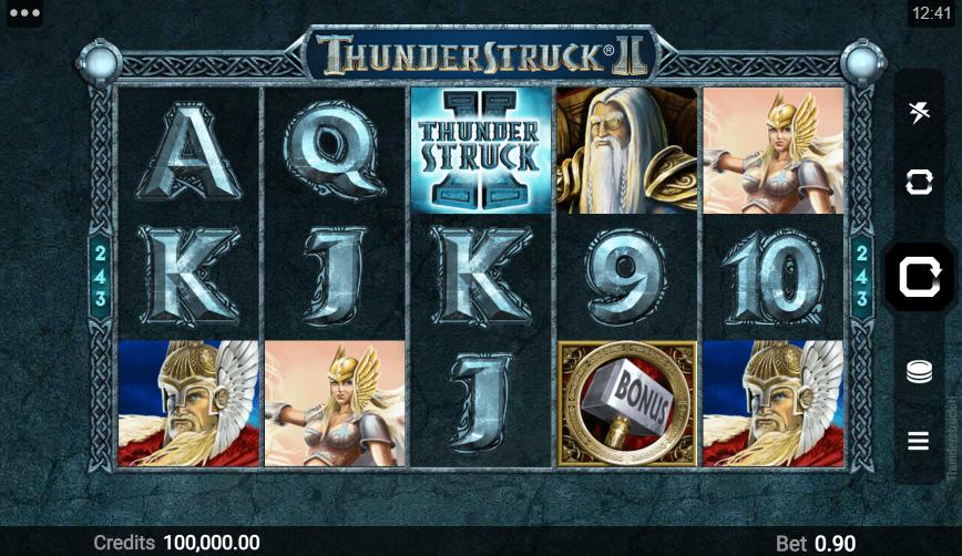 Thunderstruck 2 Slot Playing Grid
