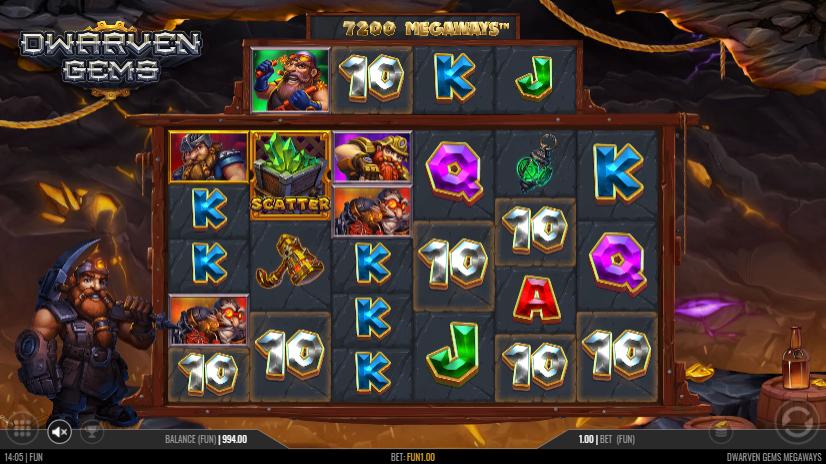 Dwarven Gems Megaways Slot Win